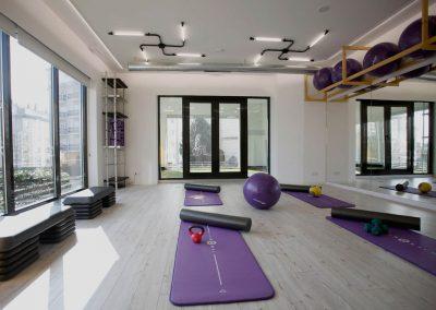 interior gimnasio carballo saude